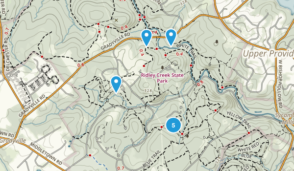 Edgmont, Pennsylvania Nature Trips Map