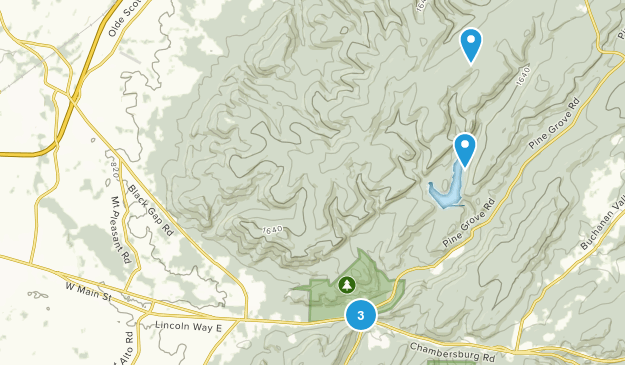 Fayetteville, Pennsylvania Hiking Map