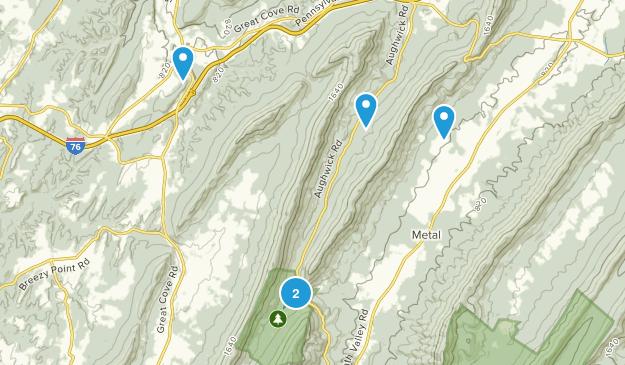 Fort Loudon, Pennsylvania Hiking Map