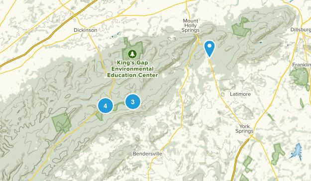 Gardners, Pennsylvania Hiking Map