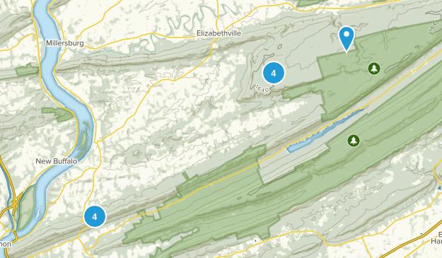 Halifax, Pennsylvania Hiking Map