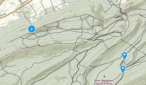 Harris, Pennsylvania Trail Running Map