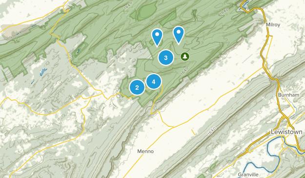 Huntingdon, Pennsylvania Nature Trips Map