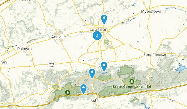 Lebanon, Pennsylvania Mountain Biking Map