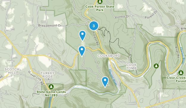 Leeper, Pennsylvania Forest Map