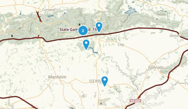 Lititz, Pennsylvania Birding Map