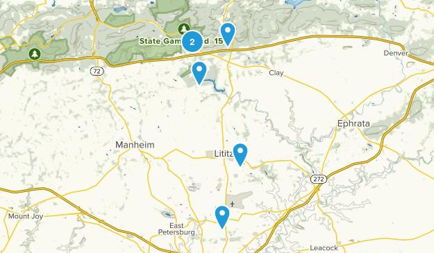Lititz, Pennsylvania Dogs On Leash Map