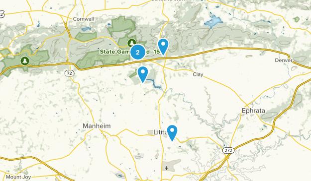 Lititz, Pennsylvania Trail Running Map