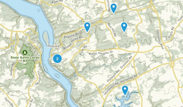 Martic, Pennsylvania Hiking Map