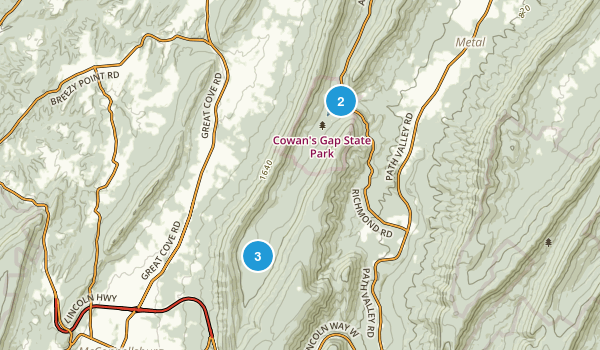 Mcconnellsburg, Pennsylvania Forest Map