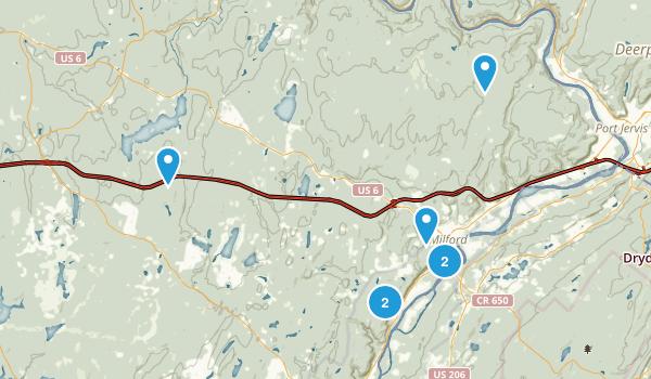 Milford, Pennsylvania Walking Map