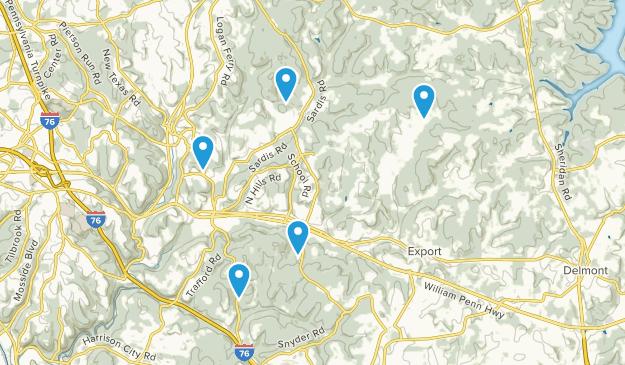 Murrysville, Pennsylvania Hiking Map