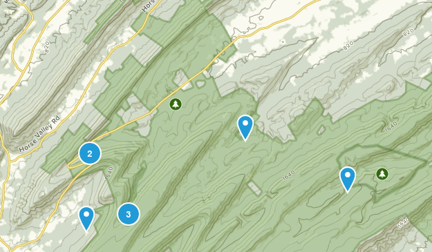 New Germantown, Pennsylvania Hiking Map