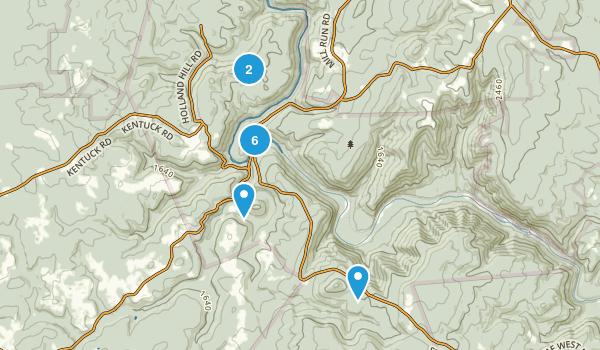 Ohiopyle, Pennsylvania Forest Map