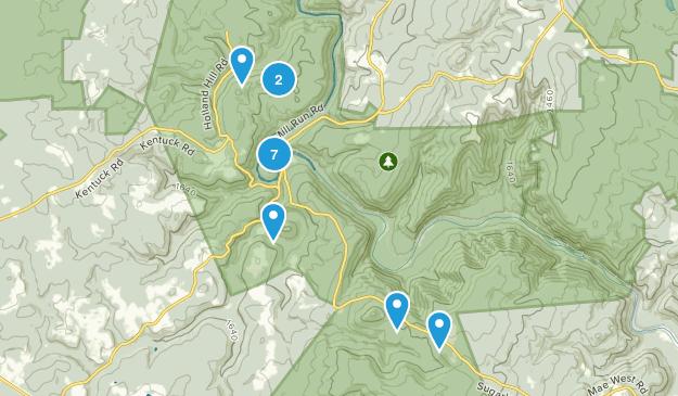 Ohiopyle, Pennsylvania Hiking Map