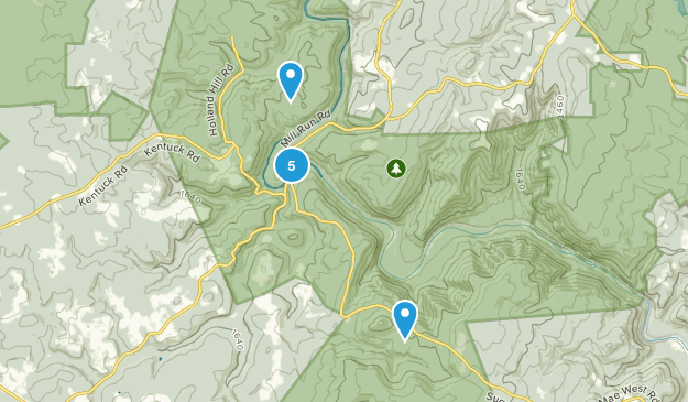Ohiopyle, Pennsylvania Mountain Biking Map