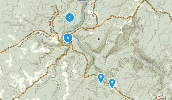 Ohiopyle, Pennsylvania Nature Trips Map