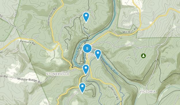 Ohiopyle, Pennsylvania River Map