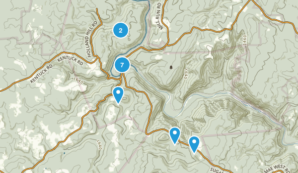 Ohiopyle, Pennsylvania Trail Running Map