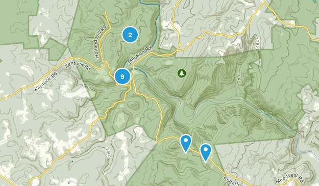 Ohiopyle, Pennsylvania Views Map