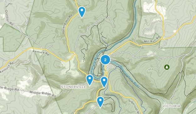 Ohiopyle, Pennsylvania Waterfall Map
