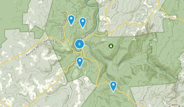 Ohiopyle, Pennsylvania Wild Flowers Map