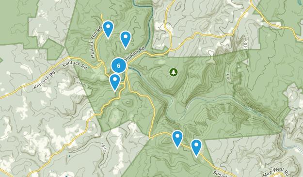 Ohiopyle, Pennsylvania Wildlife Map