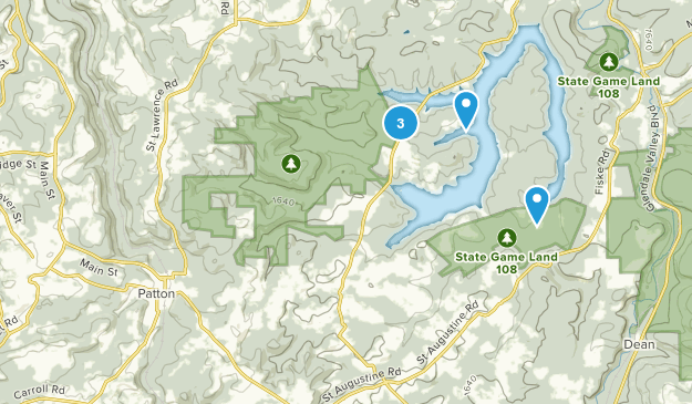 Patton, Pennsylvania Hiking Map