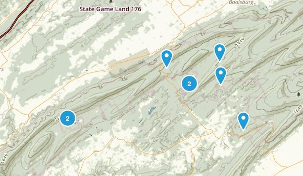Petersburg, Pennsylvania Dogs On Leash Map