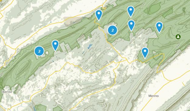 Petersburg, Pennsylvania Hiking Map
