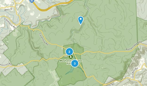 Philipsburg, Pennsylvania Hiking Map