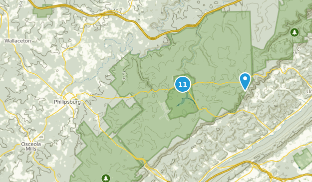 Philipsburg, Pennsylvania Hiking Map