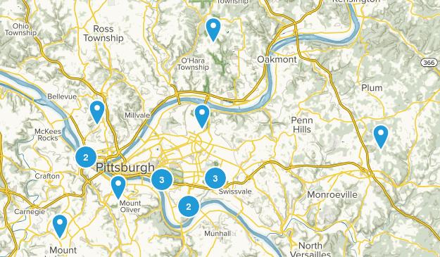 Pittsburgh, Pennsylvania Views Map