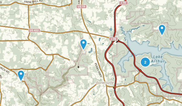Portersville, Pennsylvania Walking Map