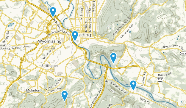 Reading, Pennsylvania Birding Map