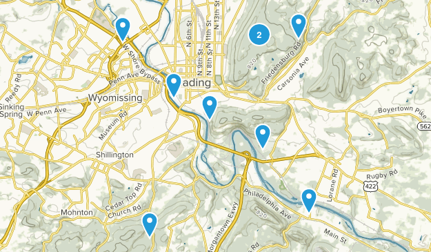 Reading, Pennsylvania Nature Trips Map