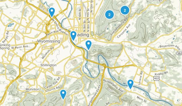 Reading, Pennsylvania Views Map