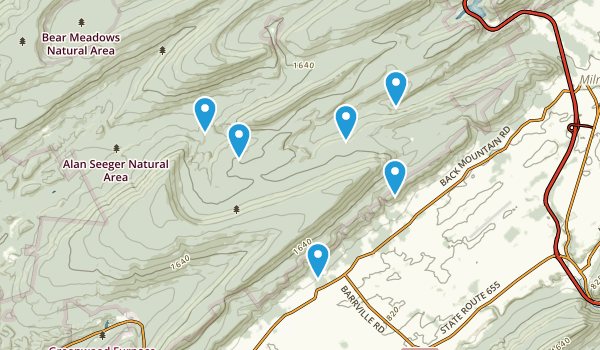 Reedsville, Pennsylvania Hiking Map