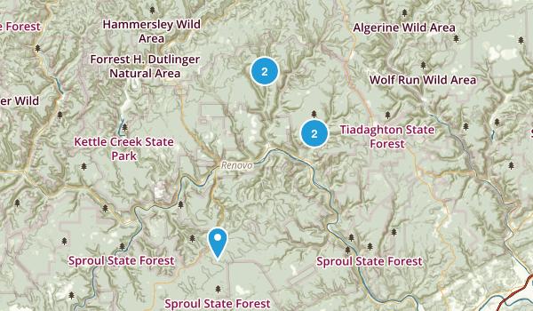 Renovo, Pennsylvania Hiking Map