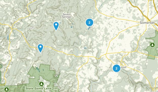Rockwood, Pennsylvania Trail Running Map