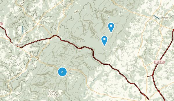 Somerset, Pennsylvania Mountain Biking Map