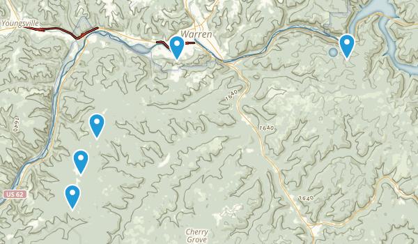 Warren, Pennsylvania Forest Map