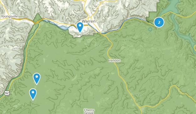 Warren, Pennsylvania Hiking Map