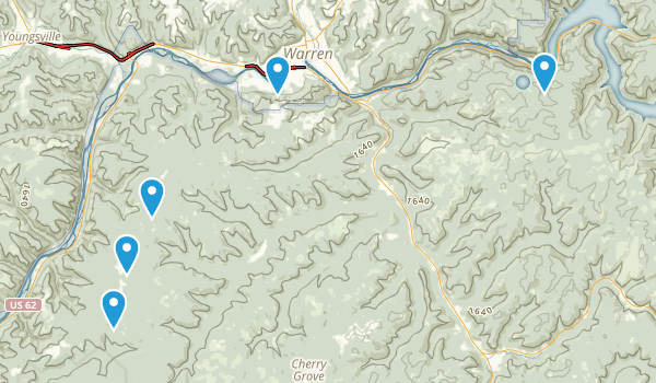 Warren, Pennsylvania Trail Running Map