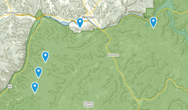 Warren, Pennsylvania Trail Running Map