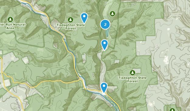Waterville, Pennsylvania Hiking Map