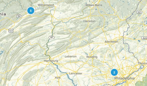 Wayne, Pennsylvania Hiking Map