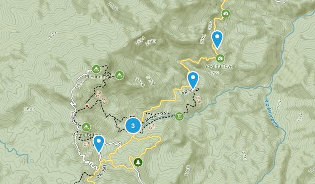 Campamento Zarzal, Puerto Rico Hiking Map