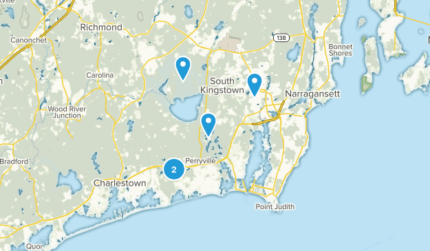 Wakefield, Rhode Island Hiking Map