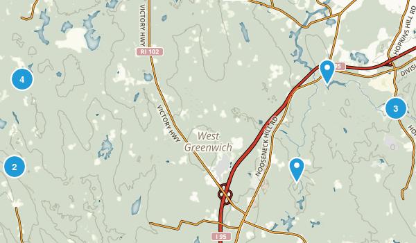 West Greenwich, Rhode Island Walking Map